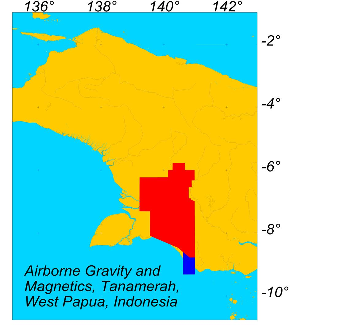 Multi-client Airborne Magnetic and Gravity Data, Tanamerah, West Papua, Indonesia